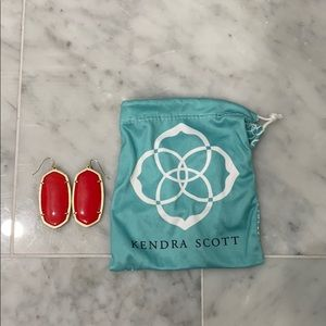 Large red Kendra Scott earrings